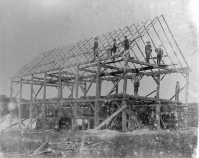 Maeck's Mill (under construction), Deer Lake, circa 1900
