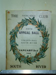 The Young Men's Club Fifth Annual Ball, South River, 1908