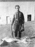 Alex Bow with a Dead Deer, circa 1910