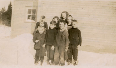 School Children in the Snow, circa 1930