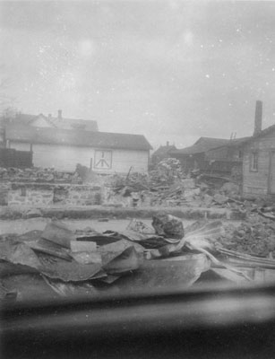 McGirrs Store After a Fire, 1940