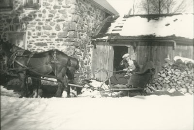 Henry Erven with child, Eagle Lake Rd, South River, circa 1930