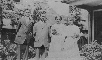 Wedding of Ena Holditch & Edmund Steen, 1912