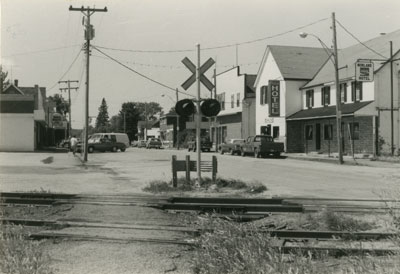 Railroad Crossing in Front of South River's Main Street, 1981