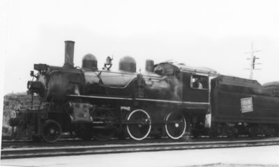 Northbound Grand Trunk Railway Locomotive, South River Railway Yard