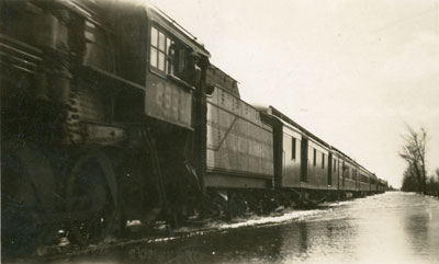 Black and White Photograph of a Train, circa 1920