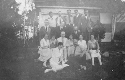 Group Photo Outside a House