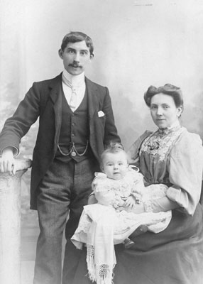 Portrait of Man, Woman and Child