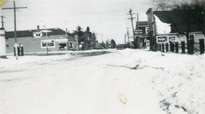 Winter on Main Street, South River, circa 1948