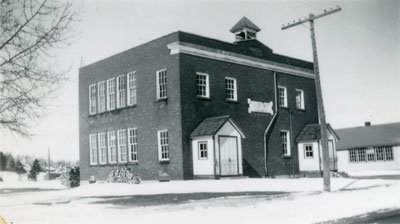South River Public School in Winter, 1948