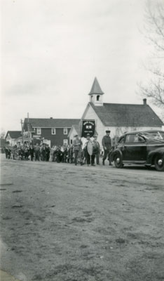 Procession on a South River Street