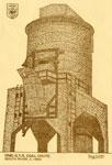 Hand Drawn Postcard of the Grand Trunk Railroad Coal Chute, circa 1900