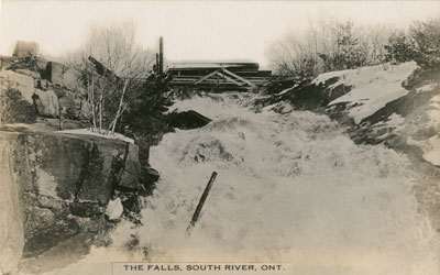 Postcard of The Falls South River, circa 1920