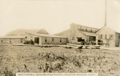 Postcard of National Wood Factory South River, circa 1920