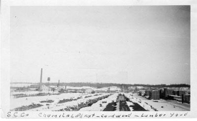 Standard Chemical Company Cord Wood Lumber Yard, circa 1920.