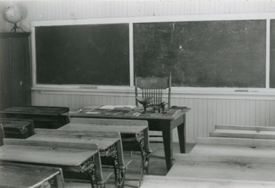 One Room School with Teacher's Desk
