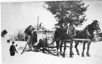 Filling the Ice Box, circa 1920