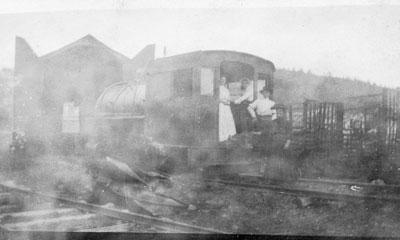 Postcard of a Foggy Locomotive, circa 1920