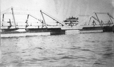 Eagle Lake Narrows Bridge on Construction, circa 1920