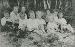 Children at Eagle Lake, circa 1914