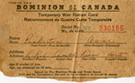 Anne Pinkerton's Temporary War Ration Card, South River