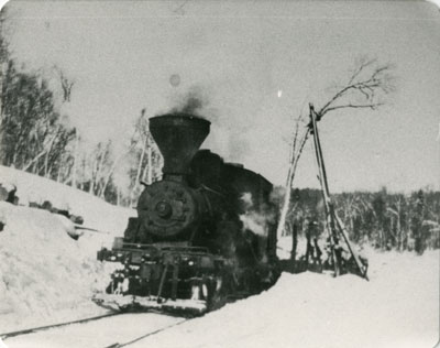 Train Switching to get a Log, circa 1930