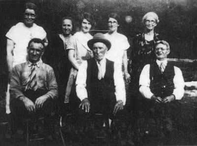 Carroll Family at Eagle Lake Cottage, circa 1935