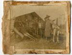 Hunters Standing Beside Their Bull Moose Kill, circa 1910