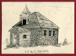 Sketch of Schoolhouse, School Section #7, Machar Township, circa 1980