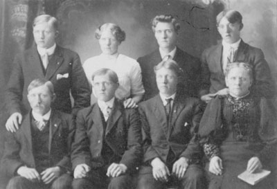 Unknown Group of Men and Women, circa 1910.