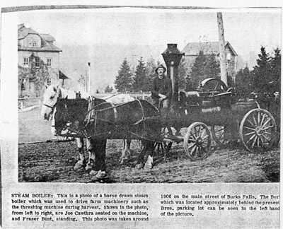 Steam Boiler Newspaper Clipping, circa 1906 and 1990.