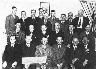 Group Photograph of The Lion's Club, circa 1960