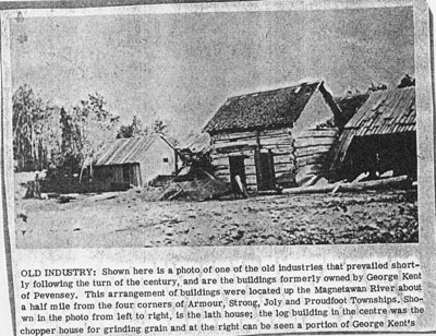 Old Industry Buildings, Newspaper Clipping