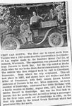 First Car to travel North of Toronto, Newspaper Clipping, circa 1910