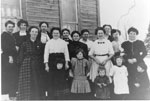 Women's Institute Group Photograph Taken in the Winter