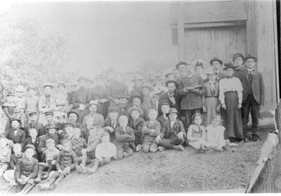 Log School Class Picture, circa 1890