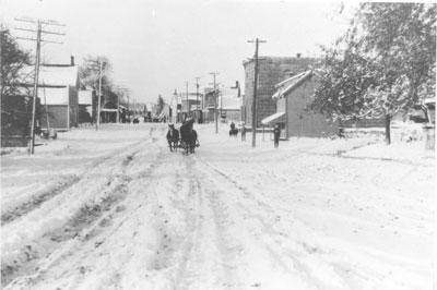Sundridge Main Street in the Winter, circa 1910