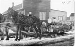 Lumber Sled in front of Sundridge's Printing Office, circa 1915