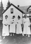 Four Women in Front of the Hannaford Home, circa 1910
