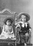 Pioneer Children in a Photography Studio, circa 1900