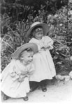Two Children on the Side of a Road, circa 1910