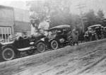 A Line of Cars on a Sundridge Street, circa 1915