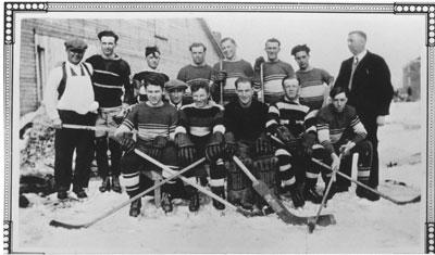 Group Photograph of Local Hockey Team, 1933