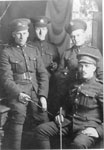 Four Soldiers in Uniform, circa 1916