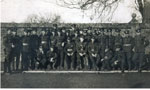 162nd Battalion Posing for a Picture Against a Wall, circa 1916