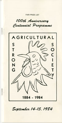 Program for the 100th Anniversary of the Strong Agricultural Society, 1984