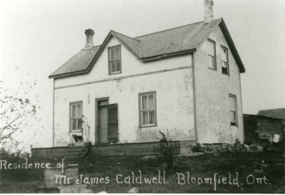 Residence of Mr. James Caldwell Bloomfield, Ontario, circa 1900