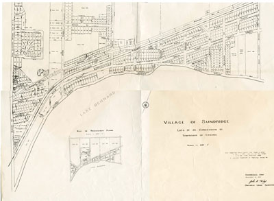Village of Sundridge Map, Lots 21 - 25 Con. 10, Township of Strong