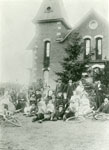 The Anderson Family in front of Castle Inn, circa 1915