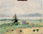 "Painting Titled ""Overlooking Sundridge"", circa"